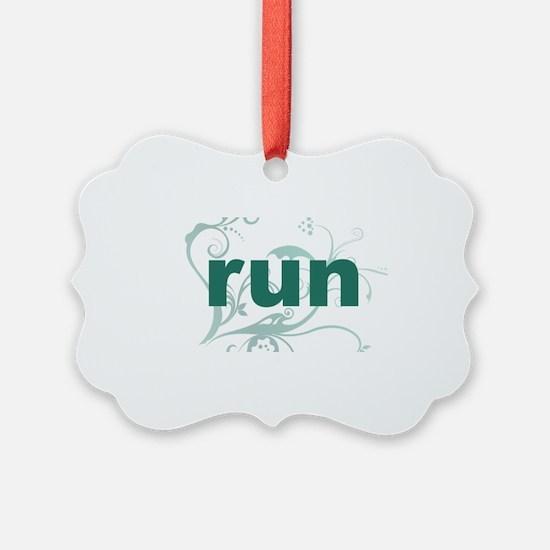 run_green_sticker Ornament