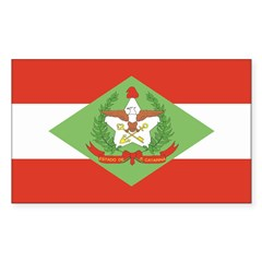 Santa Catarina Rectangle Decal