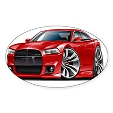 Dodge Charger SRT8 Red Car Decal