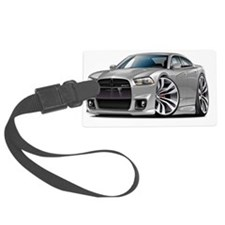 Dodge Charger SRT8 Silver Car Luggage Tag