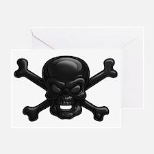 black-skull-DKT Greeting Card