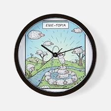Ewe-topia Wall Clock