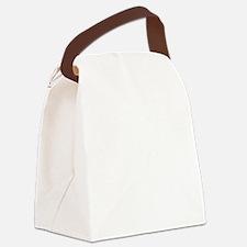 Break pose white Canvas Lunch Bag