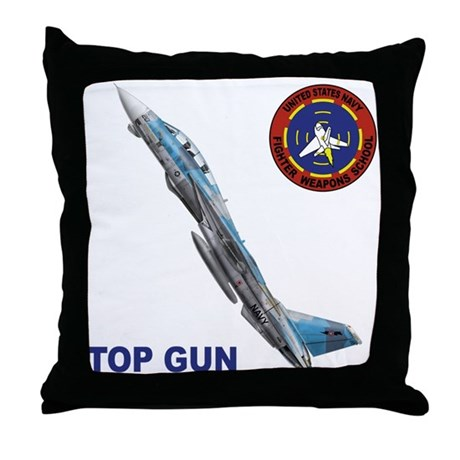 US Navy Fighter Weapon School Throw Pillow