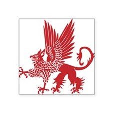 "GryphonShirt10 Square Sticker 3"" x 3"""