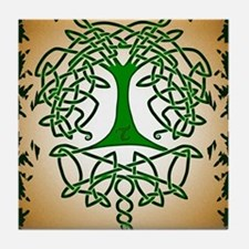 Celtic Tree of Life Tile Coaster