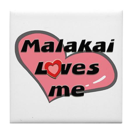 malakai loves me Tile Coaster