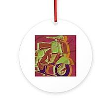 vespa-9x12 Round Ornament