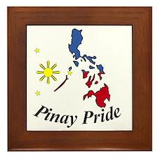 Pinay Pride Map Framed Tile