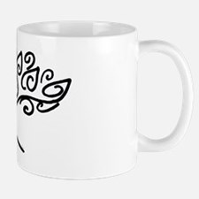 yoga tree black Mug