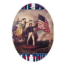 American Patriotic 8 Oval Ornament