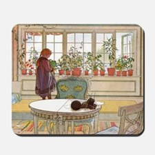 Girl at Window Mousepad