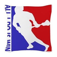 lacrosse Woven Throw Pillow