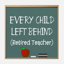every child left behind 2 Tile Coaster