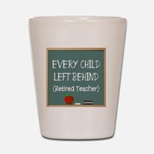 every child left behind 2 Shot Glass