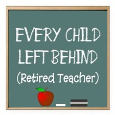 """every child left behind  Square Car Magnet 3"""" x 3"""""""