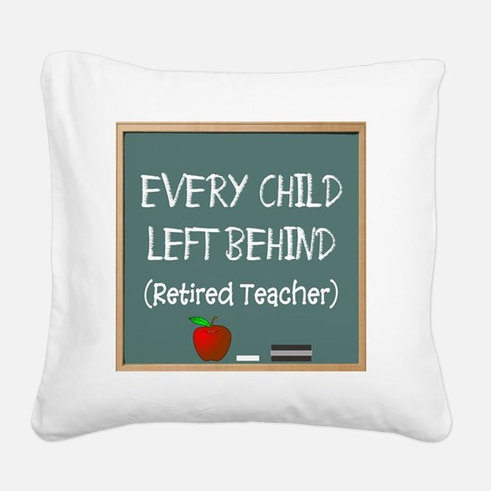 every child left behind 2 Square Canvas Pillow