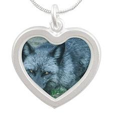 Silver Fox Silver Heart Necklace