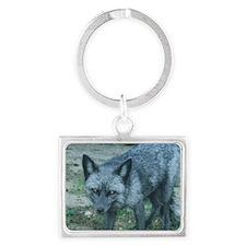 Silver Fox Landscape Keychain