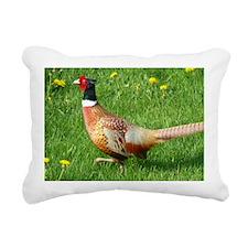 Ring-necked Pheasant Rectangular Canvas Pillow
