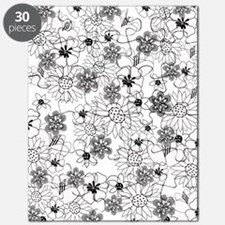 Black and White Floral Puzzle