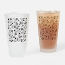 Black and White Floral Drinking Glass