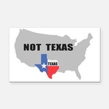 Texas Rectangle Car Magnet