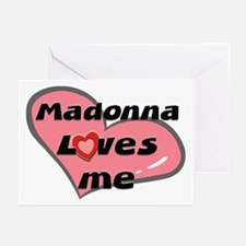 madonna loves me  Greeting Cards (Pk of 10)