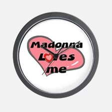madonna loves me  Wall Clock