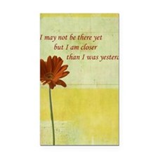 Daisy motivational quote Rectangle Car Magnet
