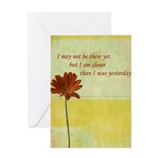 Daisy motivational quote Greeting Card