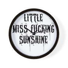 Little Miss Sunshine (Black Letter) Wall Clock