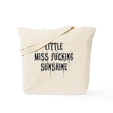 Little Miss Sunshine (Black Letter) Tote Bag