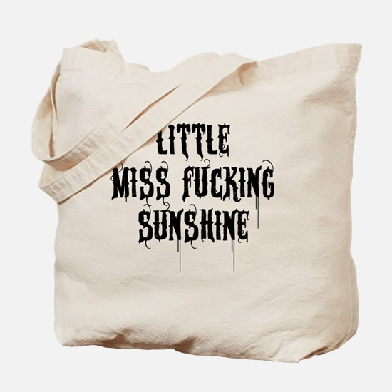 Little Miss Sunshine (Black Letter) Tote Bag