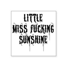 "Little Miss Sunshine (Black Square Sticker 3"" x 3"""