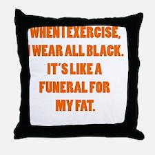 fats funeral Throw Pillow