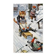 Thiele Cats Sled 5 3'x5' Area Rug