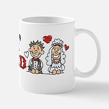 Just Married Wedding Couple Car Magnet Mug