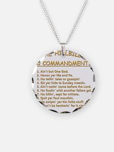 The Hillbilly 10 Commandment Necklace