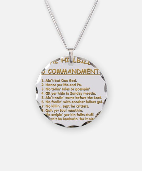 The Hillbilly 10 Commandment Necklace