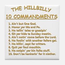 The Hillbilly 10 Commandments Tile Coaster