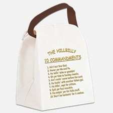 The Hillbilly 10 Commandments Canvas Lunch Bag