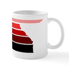 Break lines red/white Mug