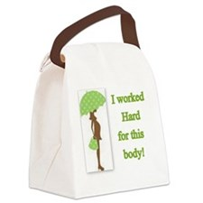 Worked hard pregnancy tee Canvas Lunch Bag