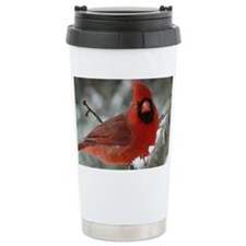 Cardinal Winter Travel Mug