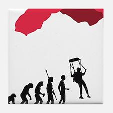 Evolution fallschirm B Tile Coaster