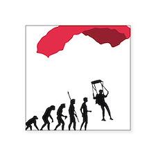 "Evolution fallschirm B Square Sticker 3"" x 3"""
