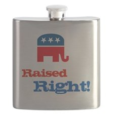 Raised Right Flask