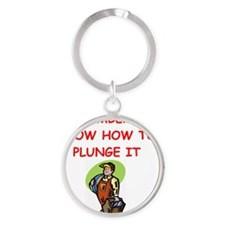 PLUMBER Round Keychain