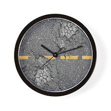 road_queen_duvet Wall Clock